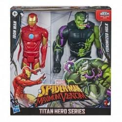 Marvel Spider-Man Maximum Venom Titan Hero Iron Man & Venomized Hulk