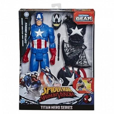 Marvel Spider-Man Maximum Venom Titan Hero Captain America