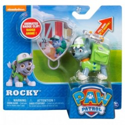 Paw Patrol Action Pack Pup & Badge Asst - Rocky Hook