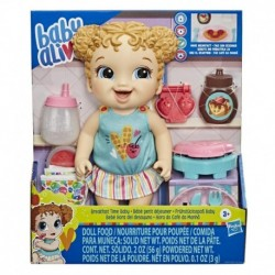 Baby Alive Breakfast Time Baby Doll, Accessories, Drinks, Wets, Eats, Blonde Hair