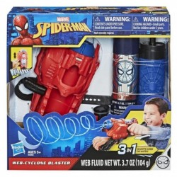 Marvel Spider-Man Web Cyclone Blaster Toy, Shoots Web Fluid Or Water, Spider-Man Roleplay Toy