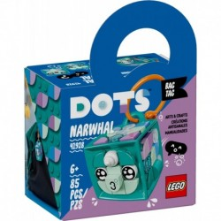 LEGO DOTS 41928 Bag Tag Narwhal