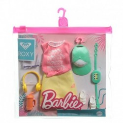 ?Barbie Storytelling Fashion Pack of Doll Clothes: Red Graphic Top & Yellow Roxy Skirt with 7 Accessories for Barbie Dolls