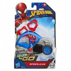 Marvel Spider-Man: Spider-Ham Stunt Vehicle 6-Inch-Scale Super Hero Action Figure And Vehicle