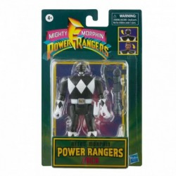 Power Rangers Retro Morphin Black Ranger Zack Fliphead Figure