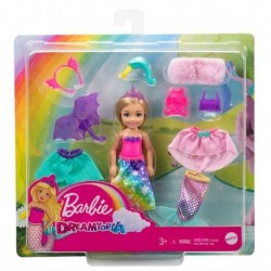 Barbie Dreamtopia Chelsea Doll Dress-Up Set with 12 Fashion Pieces