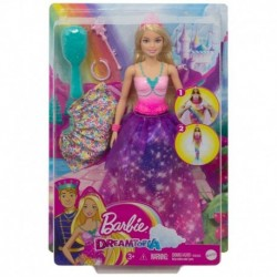 Barbie Dreamtopia 2-in-1 Princess to Mermaid Fashion Transformation Doll (Blonde) with 3 Looks and Accessories