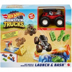 ?Hot Wheels Monster Trucks Launch & Bash Play Set