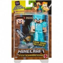 Minecraft Comic Maker Steve in Diamond Armor Action Figure