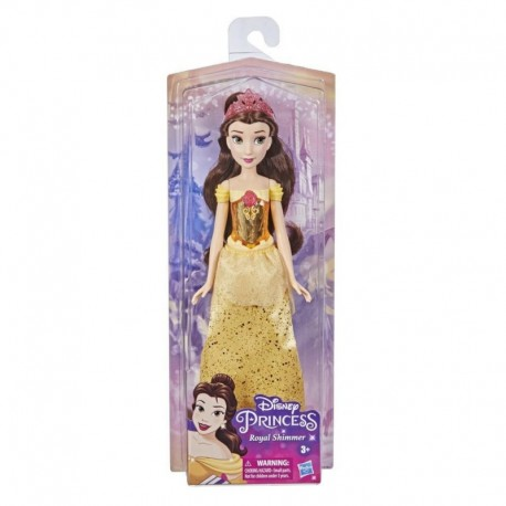 Disney Princess Royal Shimmer Belle Doll, Fashion Doll with Skirt and Accessories