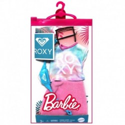 Barbie Doll Clothes Inspired By Roxy, Complete Look With 2 Accessories, Tie-Dye Roxy T-Shirt