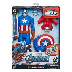 Marvel Avengers Titan Hero Series Blast Gear Captain America, With Launcher, 2 Accessories and Projectile