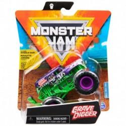 Monster Jam 1:64 Single Pack - Grave Digger Purple Wheelie Bar