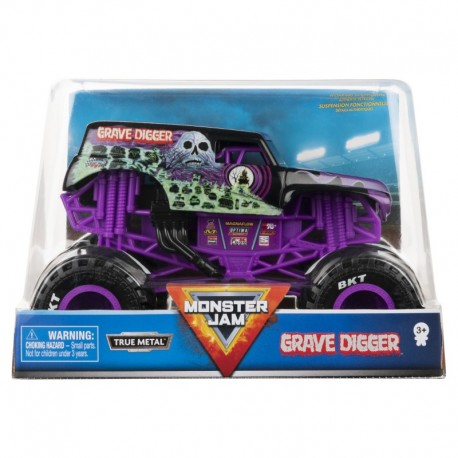 Monster Jam 1:24 Monster Truck Die Cast Vehicle - Grave Digger
