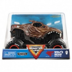Monster Jam 1:24 Monster Truck Die Cast Vehicle - Wolf's Head