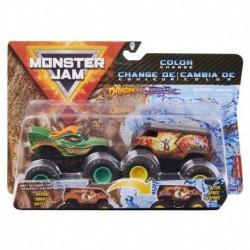 Monster Jam 1:64 2 Packs - Double Down Showdown Dragon vs Thunder Bus