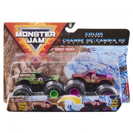 Monster Jam 1:64 2 Packs - Double Down Showdown Grave Digger vs Calavera