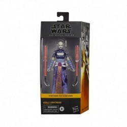 Star Wars The Black Series Asajj Ventress Toy 6-Inch Scale Star Wars: The Clone Wars Collectible Figure