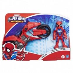 Marvel Super Hero Adventures Spider-Man Swingin' Speeder, 5-Inch Figure and Motorcycle Set