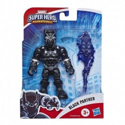Marvel Super Hero Adventures Collectible 5-Inch Black Panther Action Figure with Spear Accessory