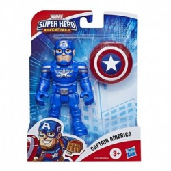 Marvel Super Hero Adventures Collectible 5-Inch Captain America Action Figure with Shield Accessory