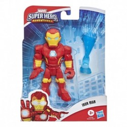 Marvel Super Hero Adventures Collectible 5-Inch Iron Man Action Figure with Repulsor Accessory