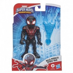 Marvel Super Hero Adventures Collectible 5-Inch Miles Morales Action Figure with Web Accessory