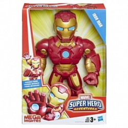 Marvel Super Hero Adventures Mega Mighties Iron Man Collectible 10-Inch Action Figure