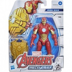Marvel Avengers Mech Strike 6' Scale Action Figure, Iron Man Toy with Compatible Battle Mech Accessory