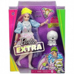 Barbie Extra Doll on Shimmering Look with Pet Puppy