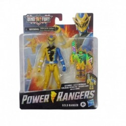 Power Rangers Dino Fury Gold Ranger 6-Inch Action Figure