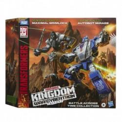 Transformers Generations War for Cybertron: Kingdom Battle Across Deluxe WFC-K40 Autobot Mirage & Maximal Grimlock
