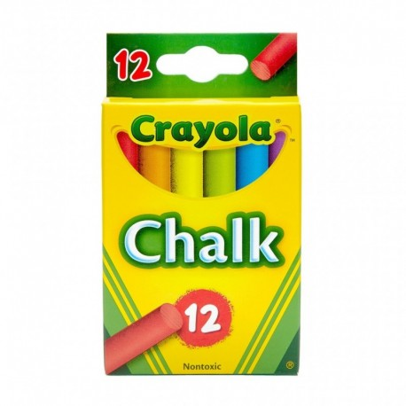 Crayola 12 Assorted Colors Drawing Chalk