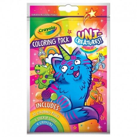 Crayola Coloring Pack with Stickers - Uni-Creatures