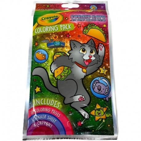 Crayola Coloring Pack With Stickers - Cosmic Cats