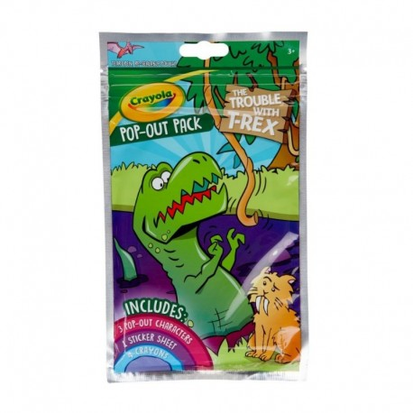 Crayola Pop-out Sticker Dinosaur With Washable Crayons