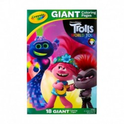 Crayola Trolls 2 Giant Coloring Pages