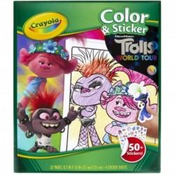 Crayola Trolls World Tour Color & Sticker Book