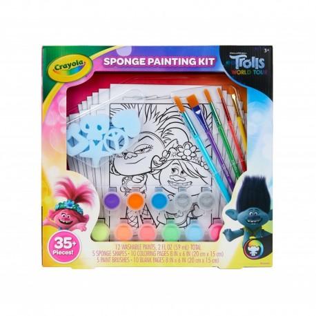 Crayola Trolls World Tour Sponge Painting Set