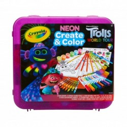 Crayola Trolls World Tour Neon Create & Color Art Set