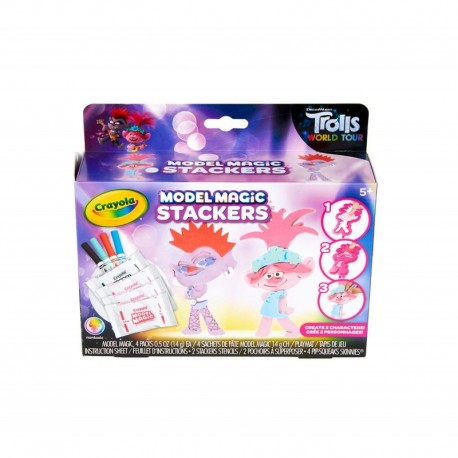 Crayola Model Magic Trolls World Tour Stackers Craft Kit