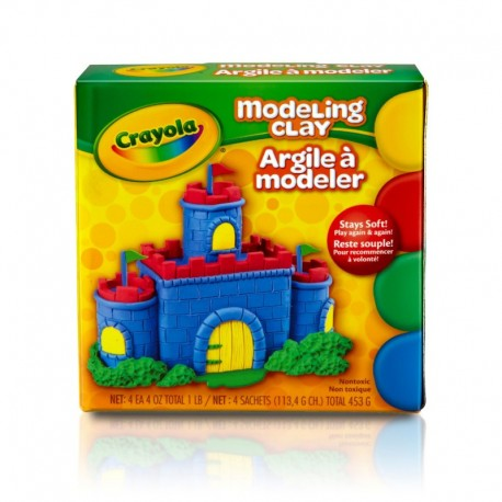 Crayola 1 lb. 4 Assorted Color Reusable Modeling Clay