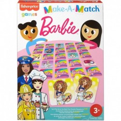 Fisher-Price Barbie Theme Make-A-Match Card Game