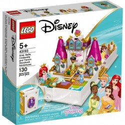 LEGO Disney 43193 Ariel, Belle, Cinderella and Tiana's Storybook Adventures