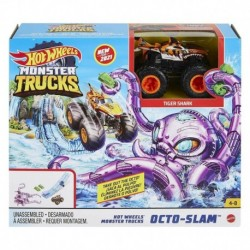 Hot Wheels Monster Trucks Octo-Slam Playset with Vehicle