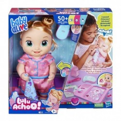 Baby Alive Lulu Achoo Doll, 12-Inch Interactive Doctor Play Toy