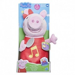 Peppa Pig Oink-Along Songs Peppa Singing Plush Doll with Sparkly Red Dress and Bow