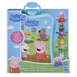 Peppa Pig Peppa's Adventures Peppa's Carry-Along Friends Case Toy, Includes 4 Figures and Carrying Case