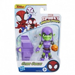 Marvel Spidey and His Amazing Friends Green Goblin Hero Figure, 4-Inch Scale Action Figure