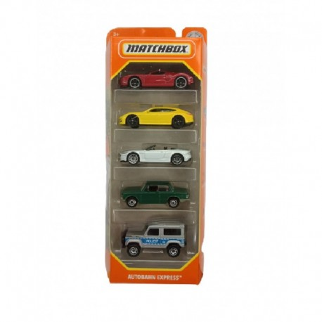 Matchbox Cars 5 Packs Autobahn Express